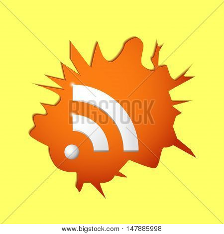 Wi-fi breaks wall concept of universally accessible Internet 2d vector illustration eps 10