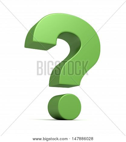 question mark 3d illustration isolated on white background