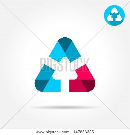 Delta letter icon with smooth rounded edges 2d vector icon illustration on grey background eps 10