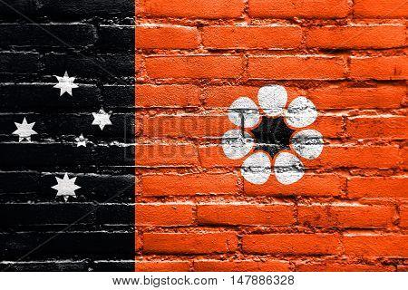 Flag Of Northern Territory, Australia, Painted On Brick Wall