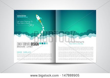 Startup Brochure or Depliant Design Covers to use for web promotons, printed related materials or company presentation. Space for text.