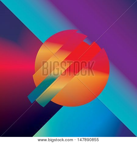 Material design abstract vector background with geometric isometric shapes. Vivid, bright, glossy colorful symbol for wallpaper. Eps10 vector illustration.