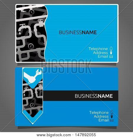 Business card for repair of plumbing and sanitary ware