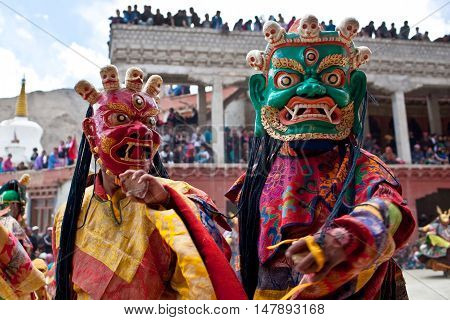 Cham Dance In Lamayuru Gompa In Ladakh, India