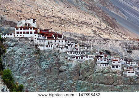 Famous Diskit Monastery in Ladakh Jammu and Kashmir state India