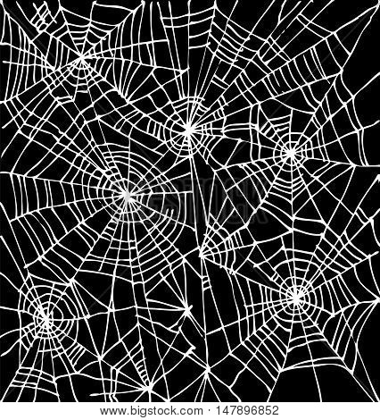 Halloween web background 301-Bk. Eau-forte black-and-white decorative texture vector illustration.