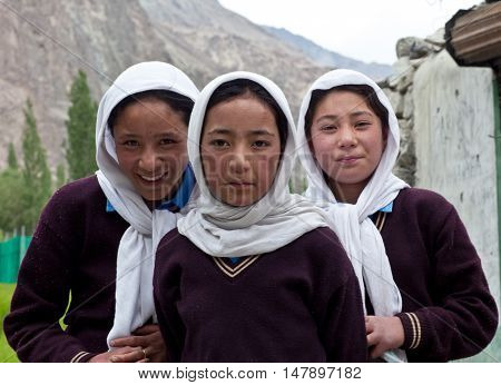Girls From Baltistan, India