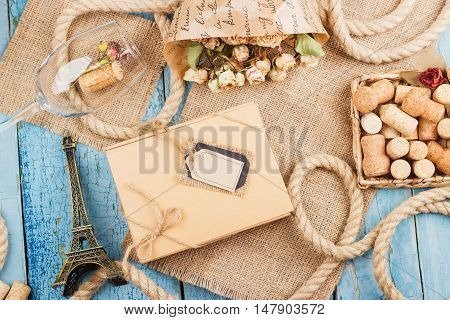Dried Flowers, Present Box And Different Decorations
