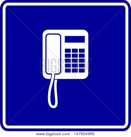 corded telephone sign