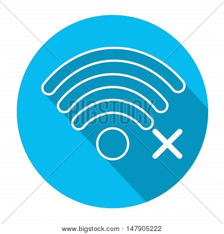 Wifi Signal Icon No Wireless Connection Flat Vector Illustration