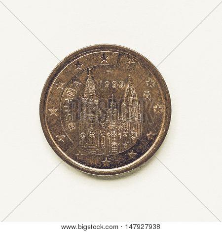 Vintage Spanish 5 Cent Coin