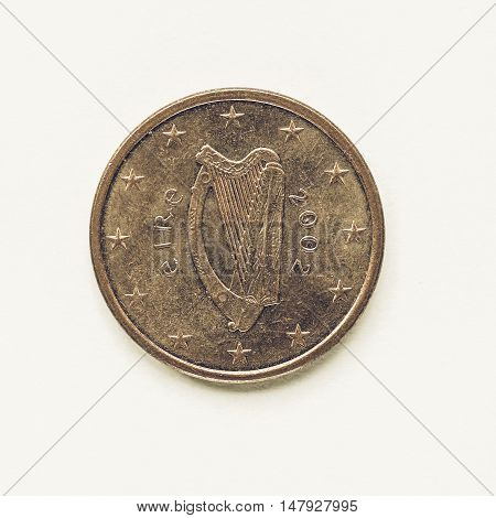 Vintage Irish 5 Cent Coin