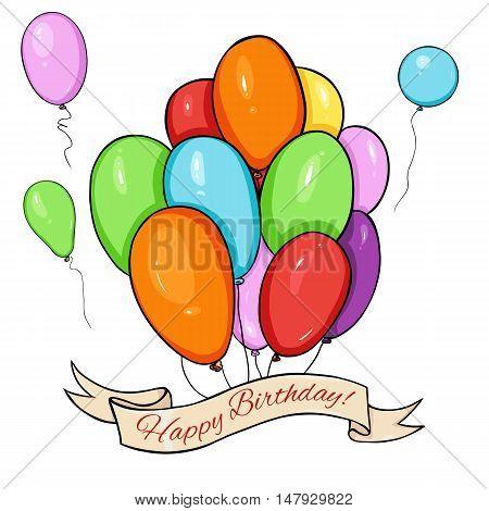 Vector Happy Birthday Greating Card.