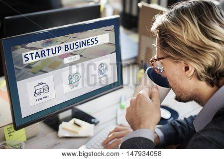 Analytics Branding Marketing Startup Business Concept