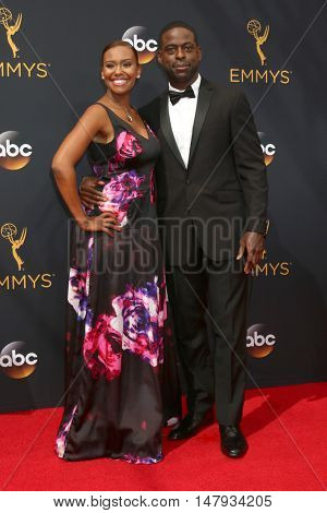LOS ANGELES - SEP 18:  Ryan Michelle Bathe, Sterling K Brown at the 2016 Primetime Emmy Awards - Arrivals at the Microsoft Theater on September 18, 2016 in Los Angeles, CA
