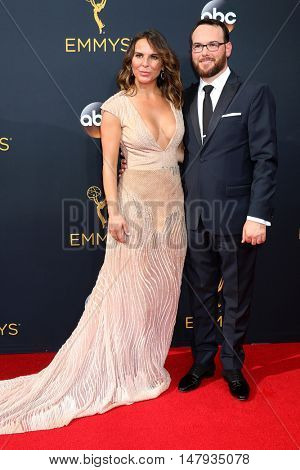 LOS ANGELES - SEP 18:  Kate del Castillo, Dana Brunetti at the 2016 Primetime Emmy Awards - Arrivals at the Microsoft Theater on September 18, 2016 in Los Angeles, CA