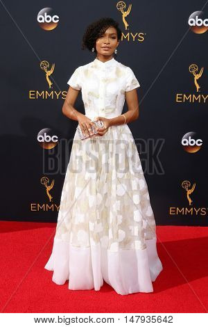 LOS ANGELES - SEP 18:  Yara Shahidi at the 2016 Primetime Emmy Awards - Arrivals at the Microsoft Theater on September 18, 2016 in Los Angeles, CA