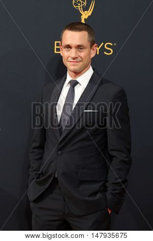 LOS ANGELES - SEP 18:  Hugh Dancy at the 2016 Primetime Emmy Awards - Arrivals at the Microsoft Theater on September 18, 2016 in Los Angeles, CA