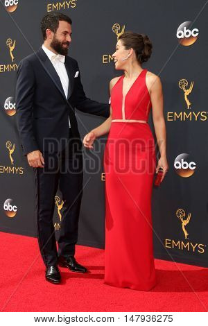 LOS ANGELES - SEP 18:  Tom Cullen, Tatiana Maslany at the 2016 Primetime Emmy Awards - Arrivals at the Microsoft Theater on September 18, 2016 in Los Angeles, CA