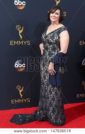 LOS ANGELES - SEP 18:  Marcia Clark at the 2016 Primetime Emmy Awards - Arrivals at the Microsoft Theater on September 18, 2016 in Los Angeles, CA