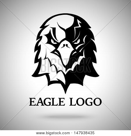 Vector Eagle template for logo, badge, label etc
