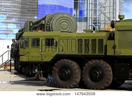 Tractors consisting in service of the Strategic Missile Forces for transportation of rocketry heavy containers