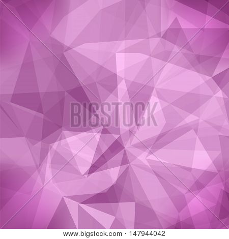 Pink Light Polygonal Mosaic Background. Business Design Templates. Triangular Geometric Pattern