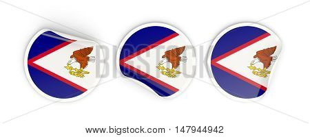 Flag Of American Samoa, Round Labels