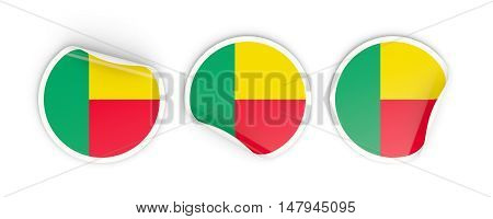 Flag Of Benin, Round Labels