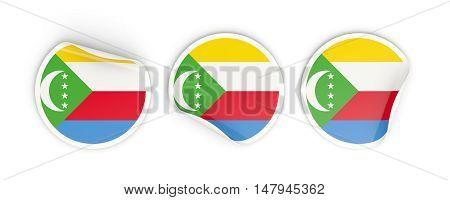 Flag Of Comoros, Round Labels