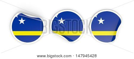 Flag Of Curacao, Round Labels
