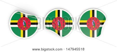 Flag Of Dominica, Round Labels