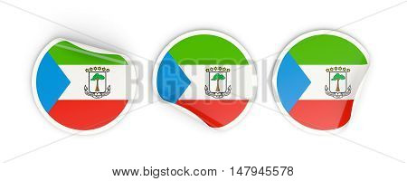 Flag Of Equatorial Guinea, Round Labels