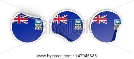 Flag Of Falkland Islands, Round Labels