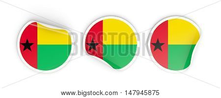 Flag Of Guinea Bissau, Round Labels
