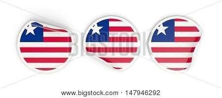 Flag Of Liberia, Round Labels