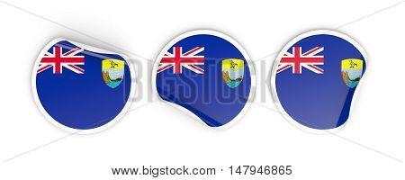 Flag Of Saint Helena, Round Labels