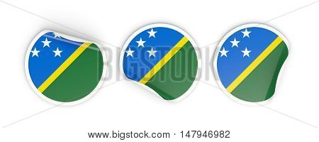 Flag Of Solomon Islands, Round Labels