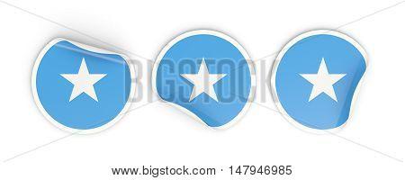 Flag Of Somalia, Round Labels