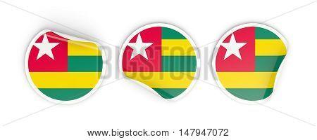 Flag Of Togo, Round Labels