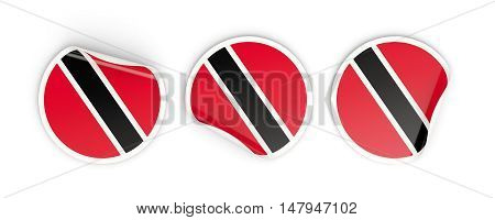 Flag Of Trinidad And Tobago, Round Labels