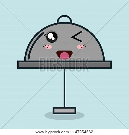 catering food service cartoon facial expression isolated icon design, vector illustration  graphic