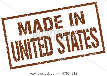made in United States. Stamp. Square grunge sign