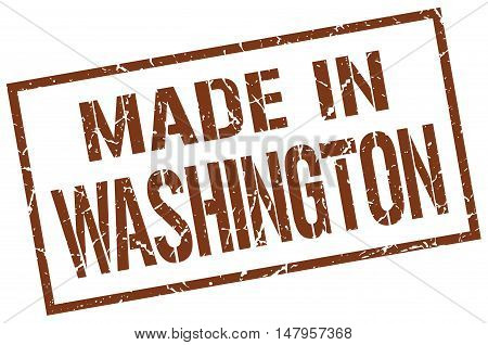 made in Washington. Stamp. Square grunge sign