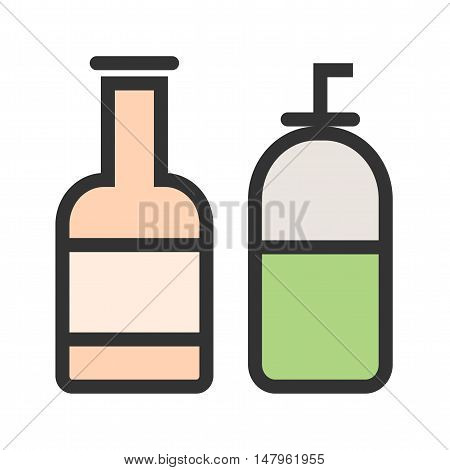 Cream, bottle, skin icon vector image. Can also be used for spa. Suitable for web apps, mobile apps and print media.