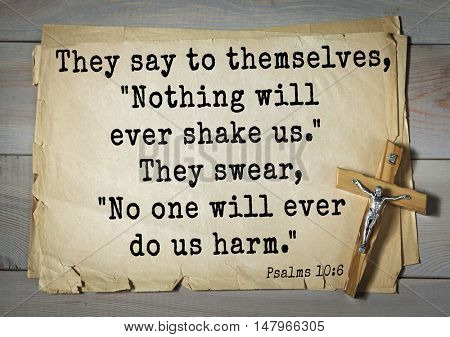 TOP-1000.  Bible verses from Psalms. They say to themselves,