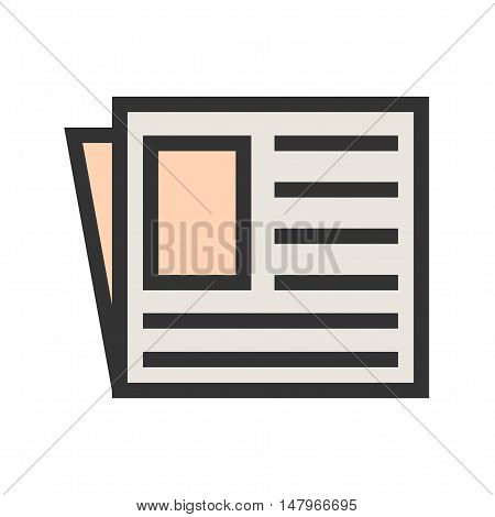 Newspaper, news paper, network icon vector image. Can also be used for finances trade. Suitable for web apps, mobile apps and print media.
