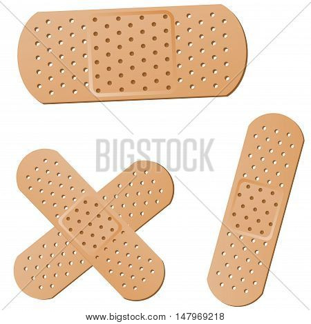 illustration of sticking plaster on white background