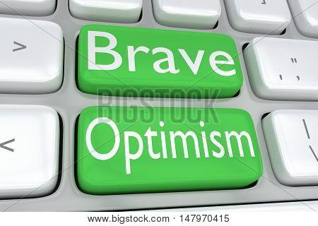 Brave Optimism Concept