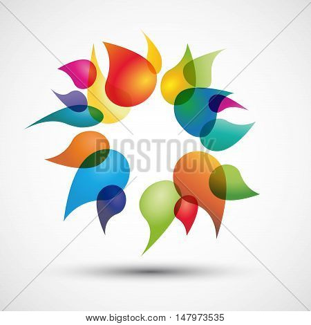 Vector abstract colored background with flight drops